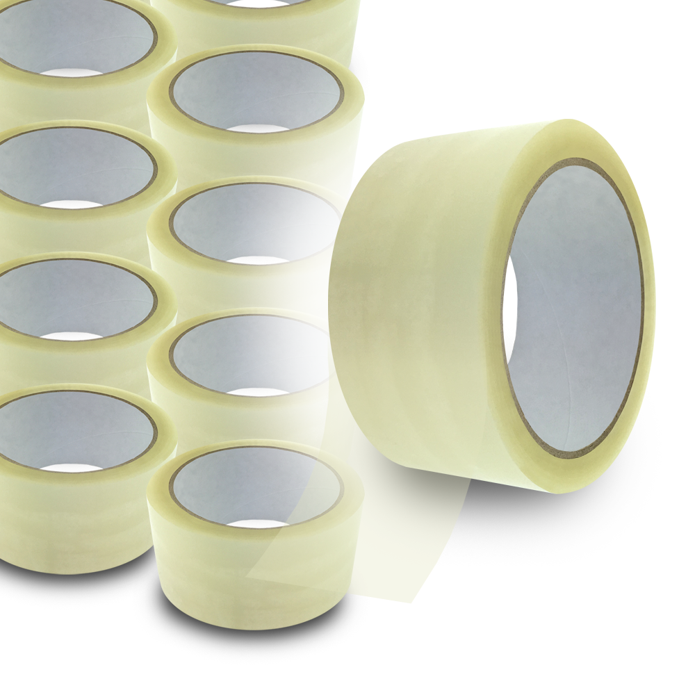 36 Rollen Premium Klebeband Transparent PP Packband Paketband Tape 48 mm x 66 m